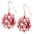 Acrylic Monogram Earrings