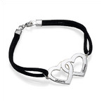Couples Heart Charm Bracelet