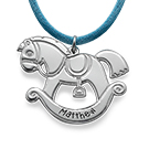 Personalized Horse Necklace in Silver