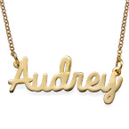 Personalized Jewelry - Cursive Name Necklace in 24k Gold Plating