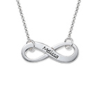 Personalized Sterling Silver Infinity Necklace