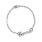 Sterling Silver Carrie Style Name Bracelet / Anklet