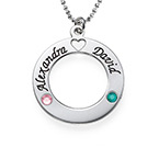 Sterling Silver Circle of Life Personalized Necklace