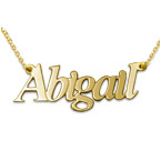 Personalized 18k Gold-Plated Sterling Silver Name Necklace
