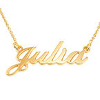 Small 18k Gold-Plated Silver Name Necklace